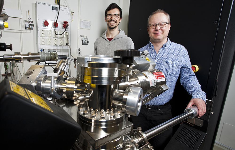 Andrea Fazi, doktorand och Mattias Thuvander, docent på Chalmers. Foto: Patrik Bergenstav