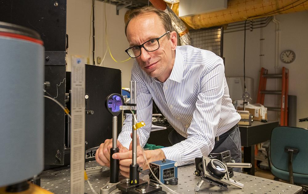 Christian Brackmann, docent i fysik vid Lunds universitet, avdelningen för förbränningsfysik. Foto: Jan Nordén
