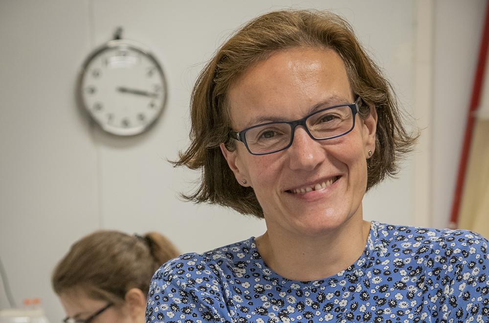Christelle Prinz, professor i biofysik på avdelningen för Fasta tillståndets fysik och NanoLund vid Lunds universitet. Foto: Jan Nordén