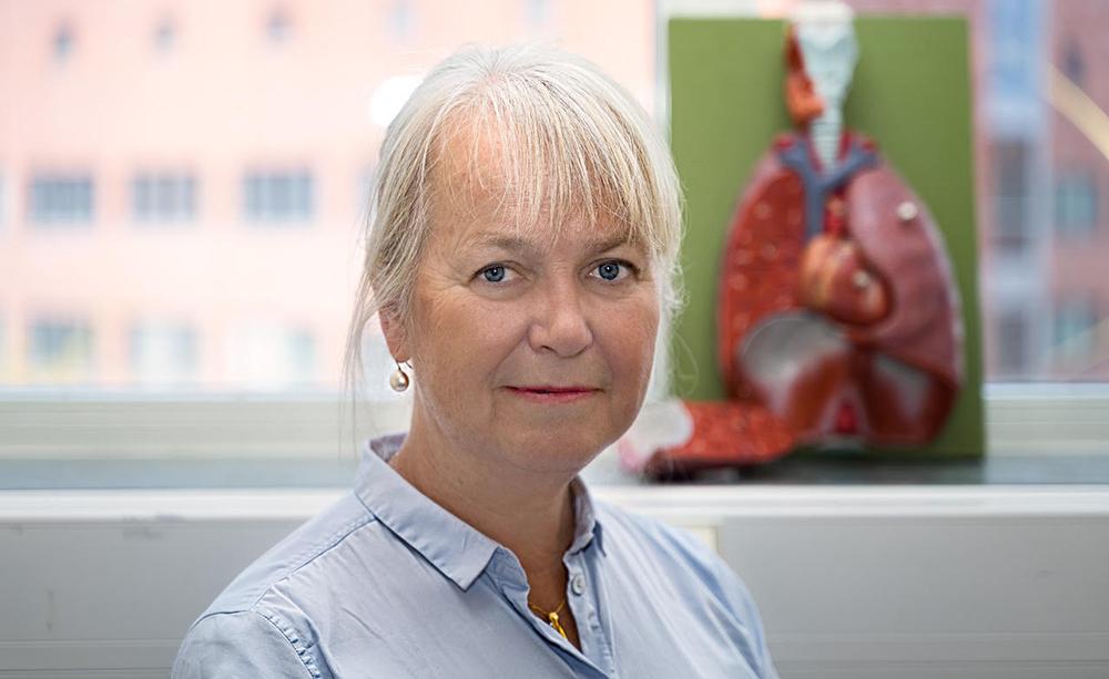 Professor Gunilla Westergren-Thorsson, projektledare för projektet Matrix- och stamcellsterapi vid kronisk lungsjukdom. Foto: Agata Garpenlind
