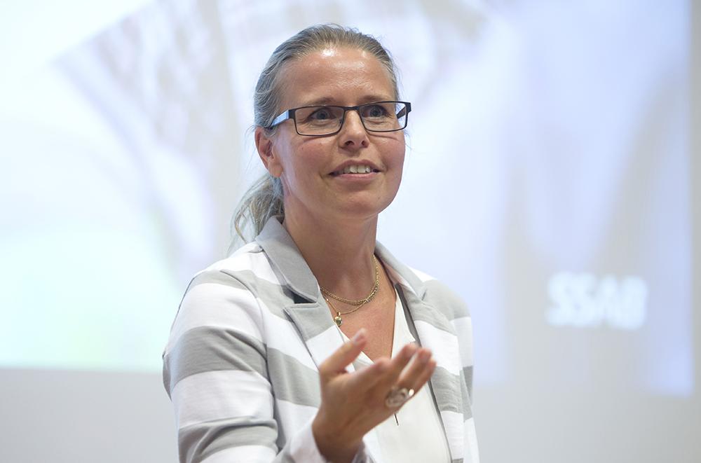 Eva Petursson, forskningschef på SSAB. Foto: Hasse Eriksson