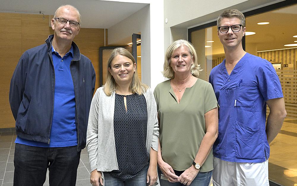 Jan-Erik Damber, Karin Welén, Karin Larsson och Andreas Josefsson vid Göteborgs universitet. Foto: Lennart Wiman