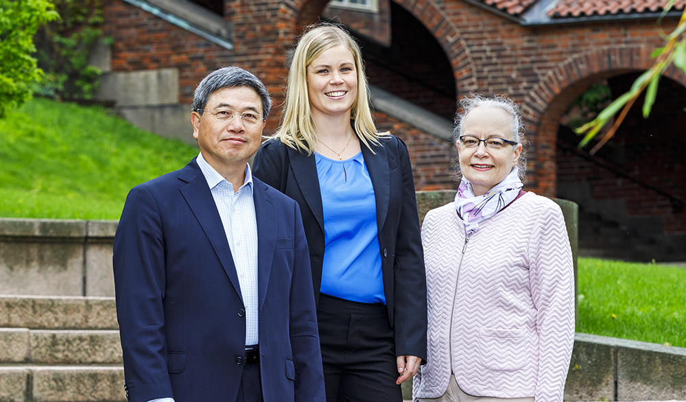 Jinshan Pan, Josefin Eidhagen, och Anna Delblanc. Foto: Gonzalo Irigoyen