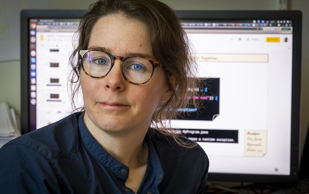 Emma Söderberg, forskare och biträdande universitetslektor i datavetenskap vid Lunds tekniska högskola. Foto: Jan Nordén
